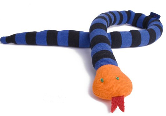 stuffed toy soft stripey snake