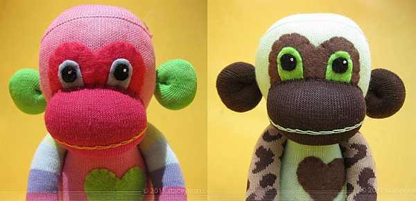 zparkleys sock monkeys soft toys