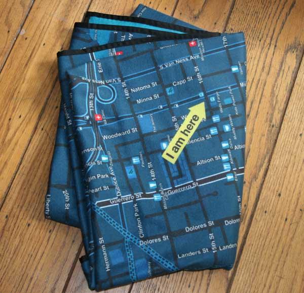 maps, blanket, personalised