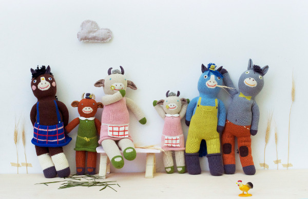 Blabla farm fresh range fall/winter 2011, knitted toys