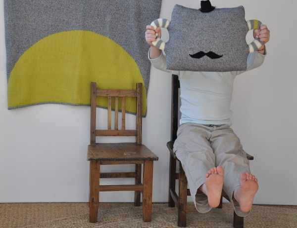 Blabla blankets and mustache pillow cushion