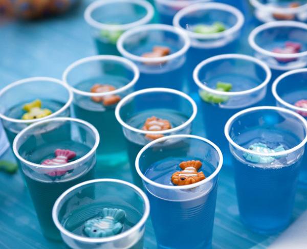 under the sea birthday party, fish jelly