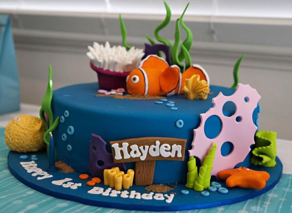 nemo cake, under the sea birthday, fish