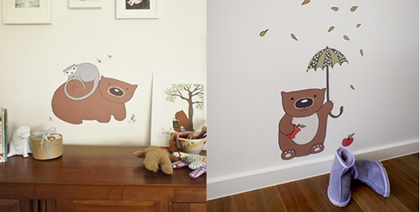 Poss & Wom wall decals