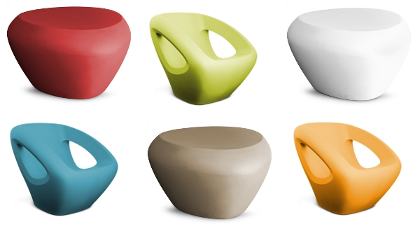 Seaser lounge chair and Teaser footrest by Lonc