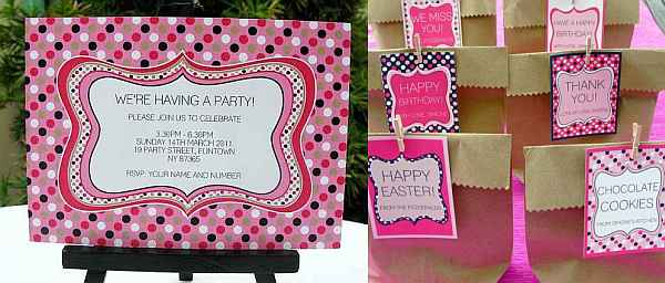simone made it printable party packs
