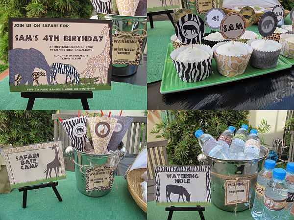 Simone Made It safari printable party pack
