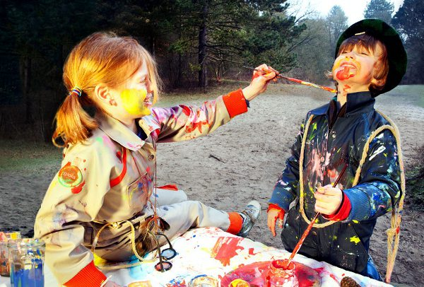 The Suitables by Gioia Mondo, kids coveralls, mud pants, messy play