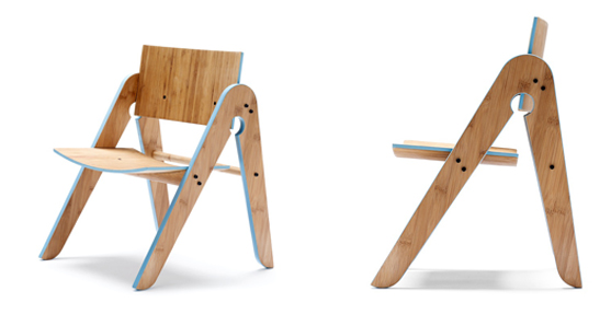 bamboo Lills child chair, Square Peg Freemantle