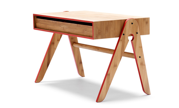 Geos child desk table bamboo, Square Peg freemantle