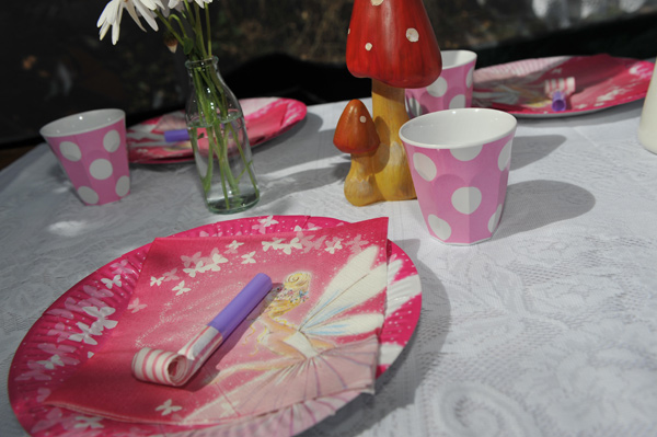 pink fairy party paper plates partyware