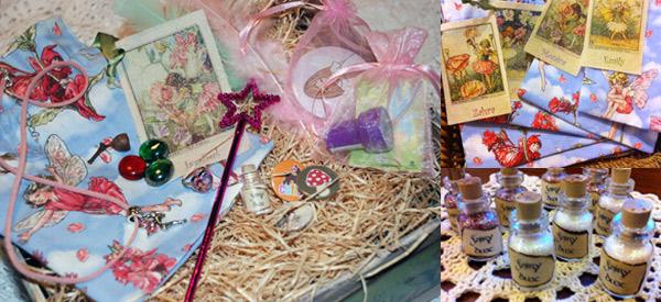 firy birthday loot bags, fairy dust, fairy treasure hunt