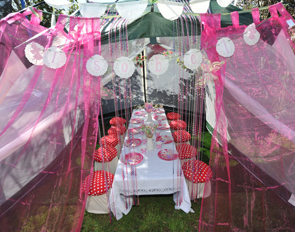 fairy bower tent for fairy birthday