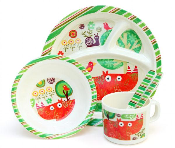rhino dinner set  sc 1 st  Babyology & The coolest melamine plates for kids at Urban Baby