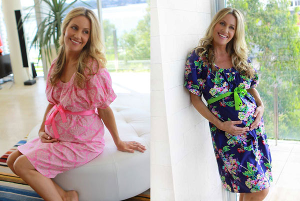 New leopard print birthing gown from Designer Mamas
