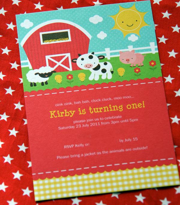 Stockberry Studio, farm party invitation, farm invite
