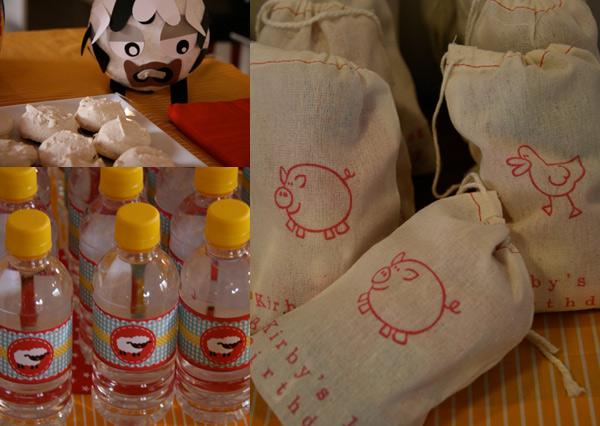calico farm favour bags
