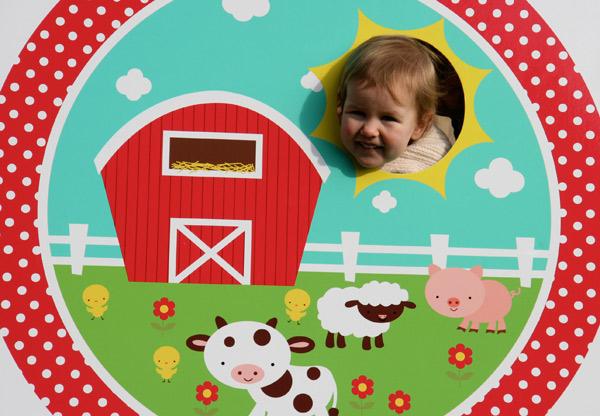 animal farm photo board