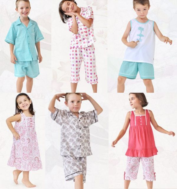 summer pyjamas for kids