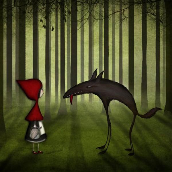 Majali illustrations, Little red riding hood