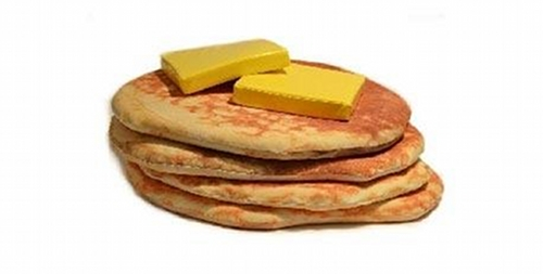 Buttered pancakes floor cushions