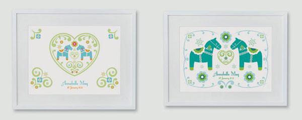 personalised nursery prints