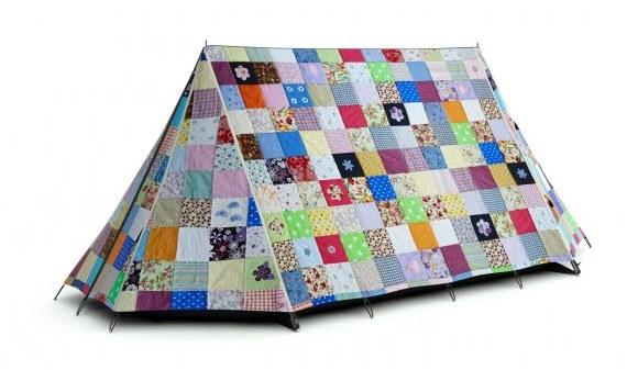 patchwork quilt tent