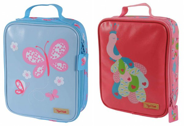 tiger tribe girls insulated lunch box butterfly and peacock