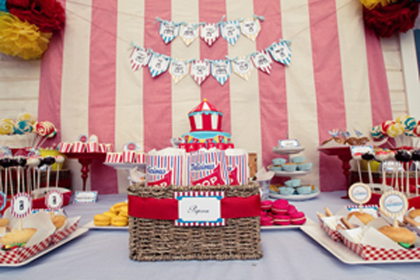 vintage circus carnival party 5 Show us your party   Matteas vintage carnival birthday