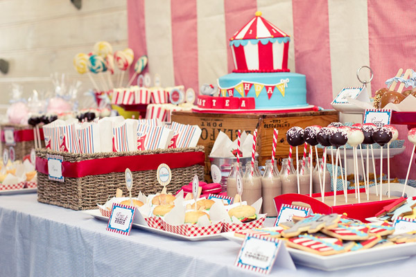 vintage circus carnival party 6 Show us your party   Matteas vintage carnival birthday