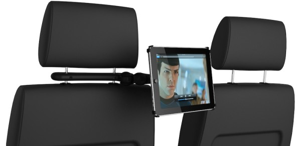 coulview ipad car mount 600x292 Share the view with the Coulvue iPad car mount