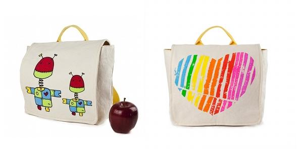 Fluf Organic Backpacks - Robot and Apple