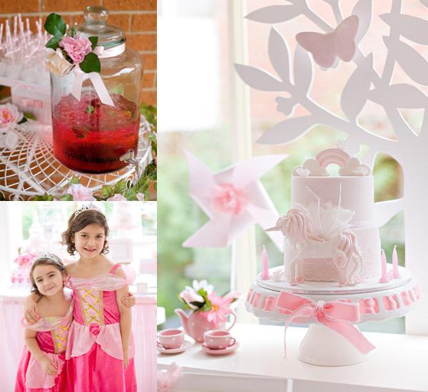 enchanted garden birthday, princess party
