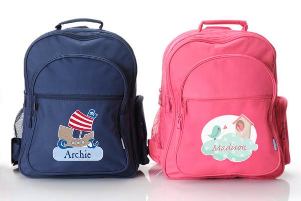Stuck on You personalised backpacks