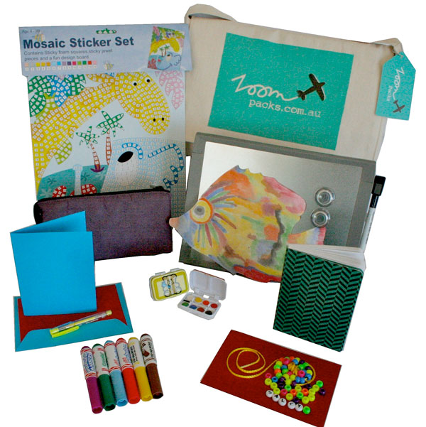 zoompack3 Zoompacks have travel entertainment for kids in the bag