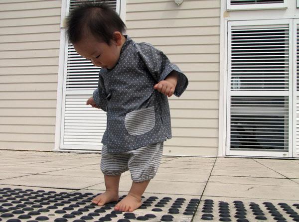 Baby Apple Tree kimono and liberty print dress