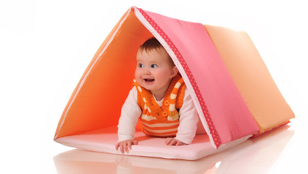 Bubbabella triangle Make tummy time fun with Bubabella Huge Activity Mat