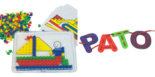 Miniland at Minimee peg boards and sewing cards alphabet