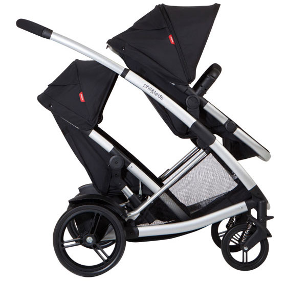 Phil and Teds promenade double pram in black