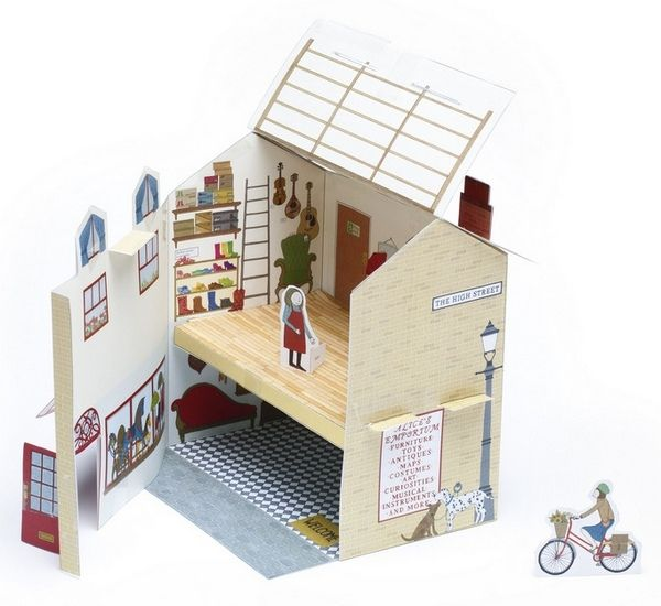 Alice Melvin, paper dollhouse