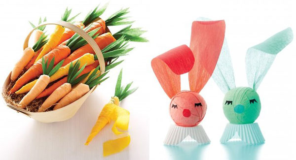 Crepe bunny and carrots Have some cracking fun with Easter craft ideas