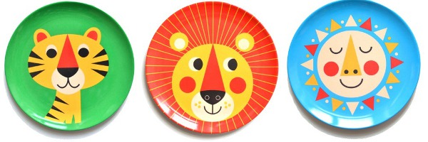 Ingela P Arrhenius1 Mealtime melamine with playful plates from Ingela P Arrhenius