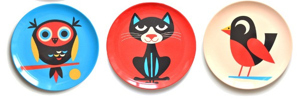 Ingela P Arrhenius3 Mealtime melamine with playful plates from Ingela P Arrhenius