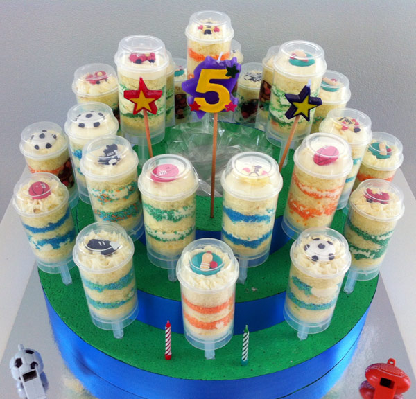 Push up cakes come to the party for Pop cake decoration