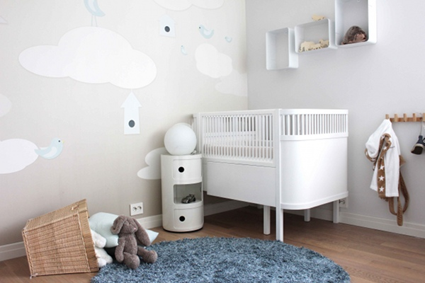 Baby Boy Nursery Wallpaper