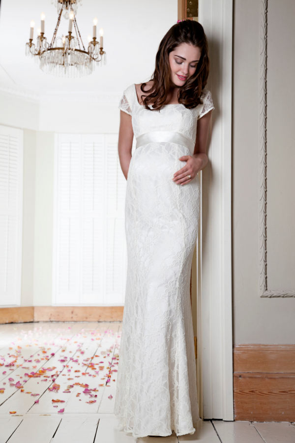 Tiffany Rose, maternity bridal wedding gown dress