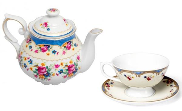 regency vintage floral teapot