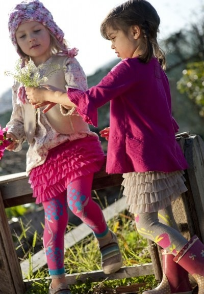 Luna Leggings footless and footed tights for girls