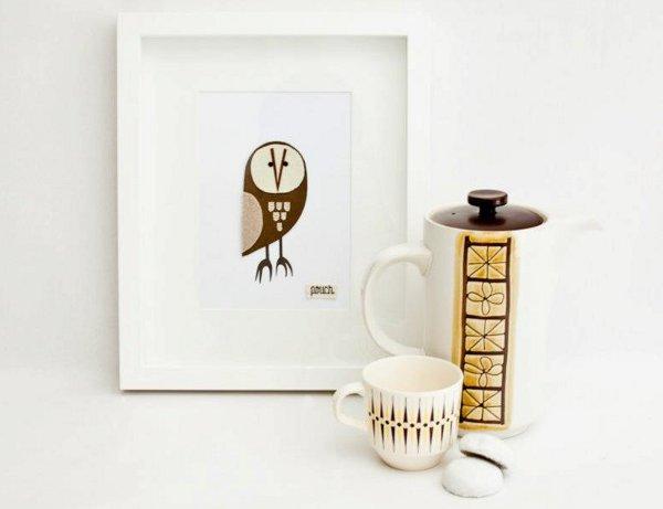Pouch Handmade, owl wall art