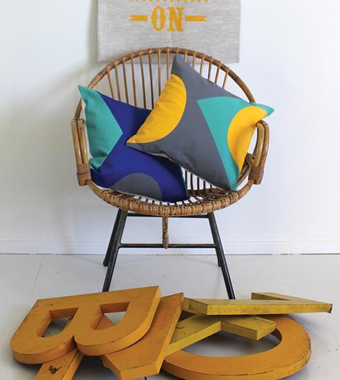 Geometric shapes cushion
